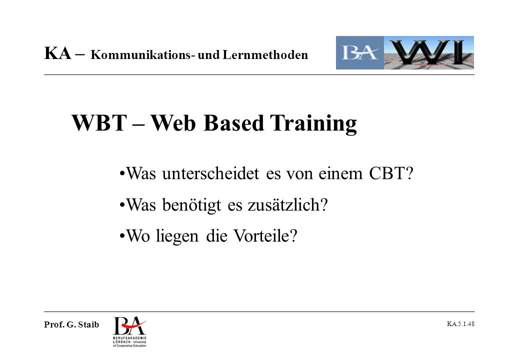 WBT – Web Based Training