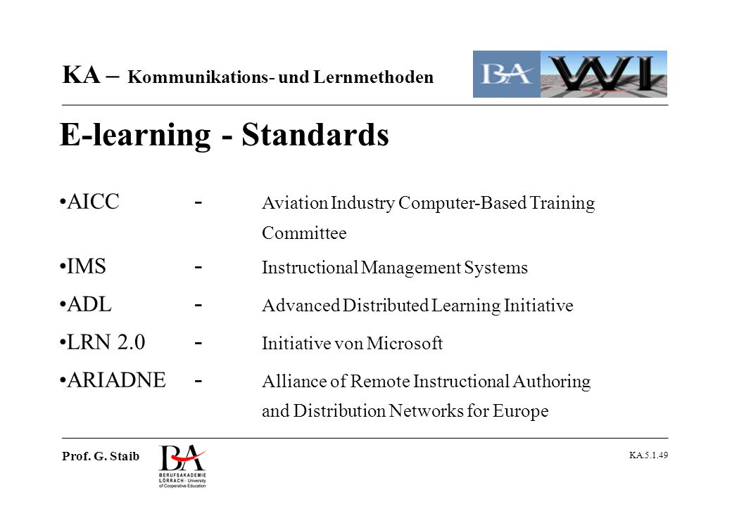 E-learning - Standards