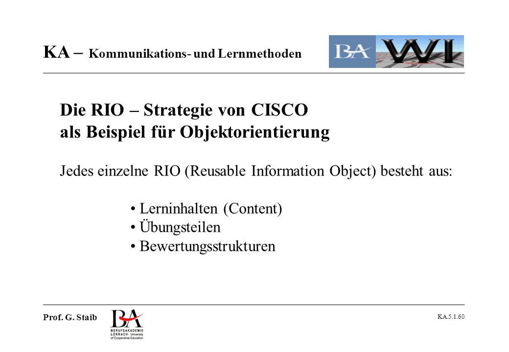 Die RIO – Strategie von CISCO als Beispiel für Objektorientierung