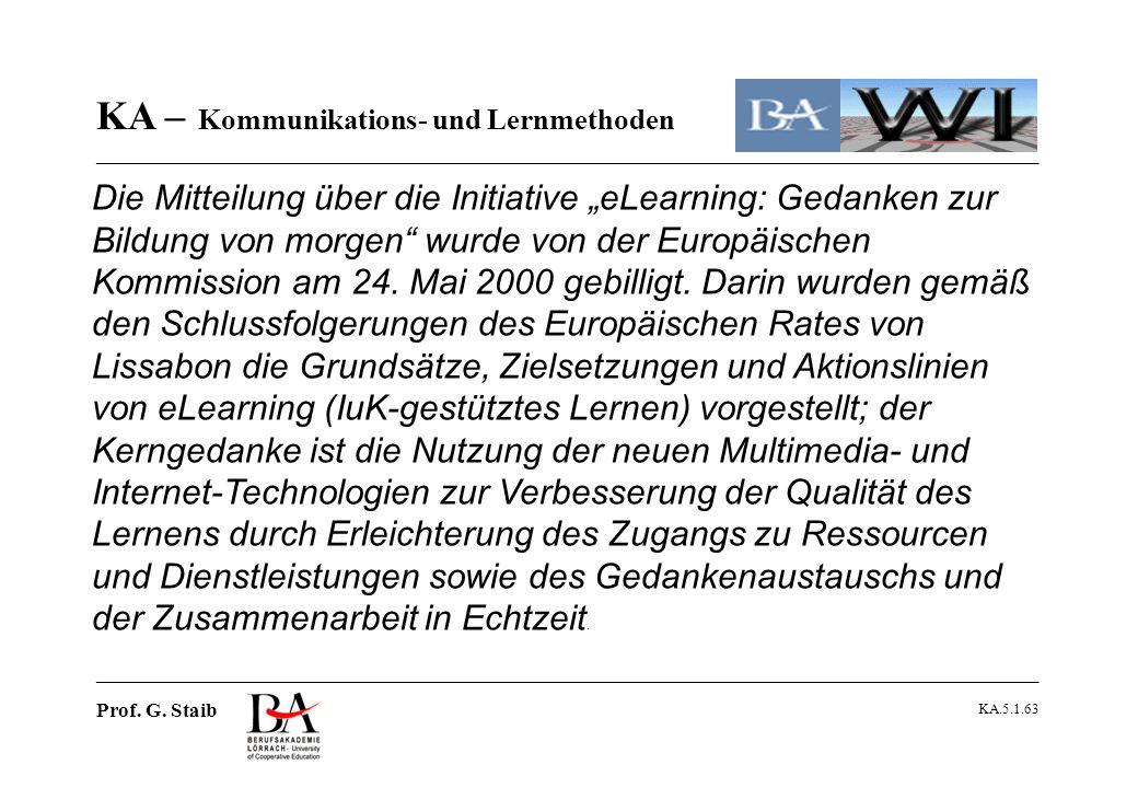 """Die Mitteilung über die Initiative """"eLearning: Gedanken zur Bildung von morgen wurde von der Europäischen Kommission am 24. Mai 2000 gebilligt. Darin wurden gemäß den Schlussfolgerungen des Europäischen Rates von Lissabon die Grundsätze, Zielsetzungen und Aktionslinien von eLearning (IuK-gestütztes Lernen) vorgestellt; der Kerngedanke ist die Nutzung der neuen Multimedia- und Internet-Technologien zur Verbesserung der Qualität des Lernens durch Erleichterung des Zugangs zu Ressourcen und Dienstleistungen sowie des Gedankenaustauschs und der Zusammenarbeit in Echtzeit."""