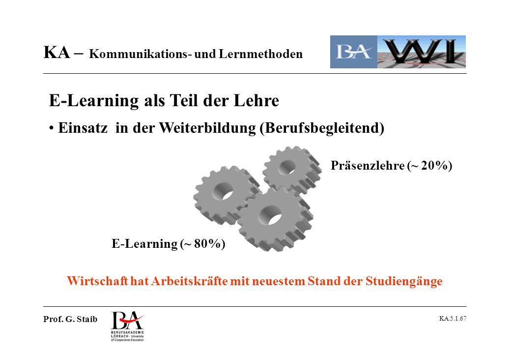 E-Learning als Teil der Lehre