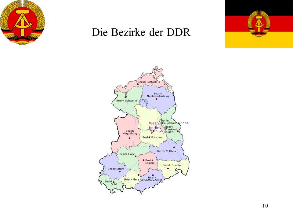Die Bezirke der DDR
