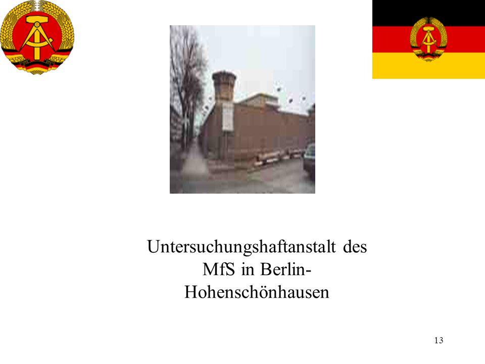 Untersuchungshaftanstalt des MfS in Berlin-Hohenschönhausen