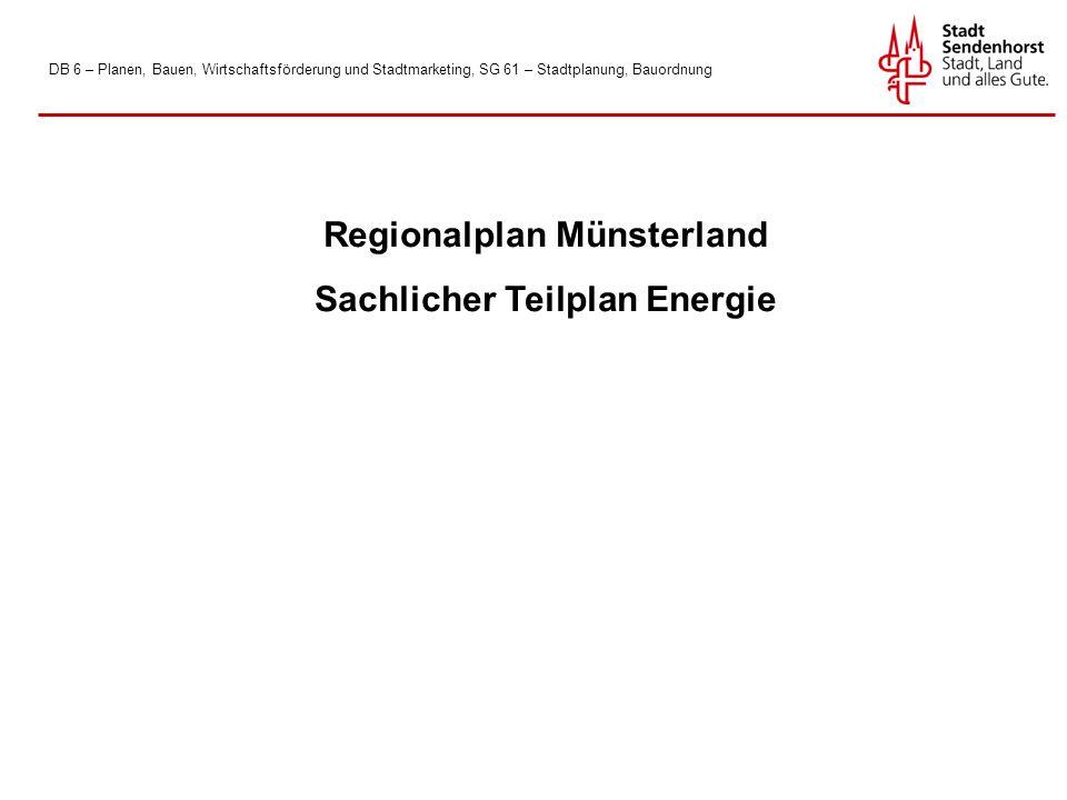 Regionalplan Münsterland Sachlicher Teilplan Energie