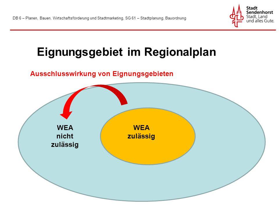 Eignungsgebiet im Regionalplan