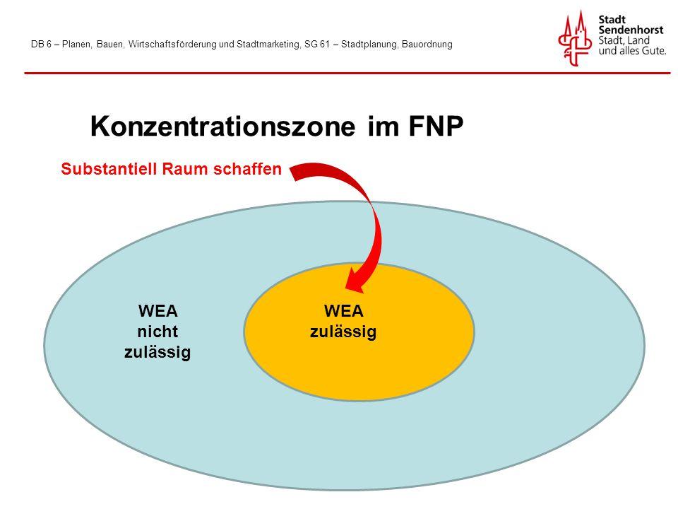 Konzentrationszone im FNP