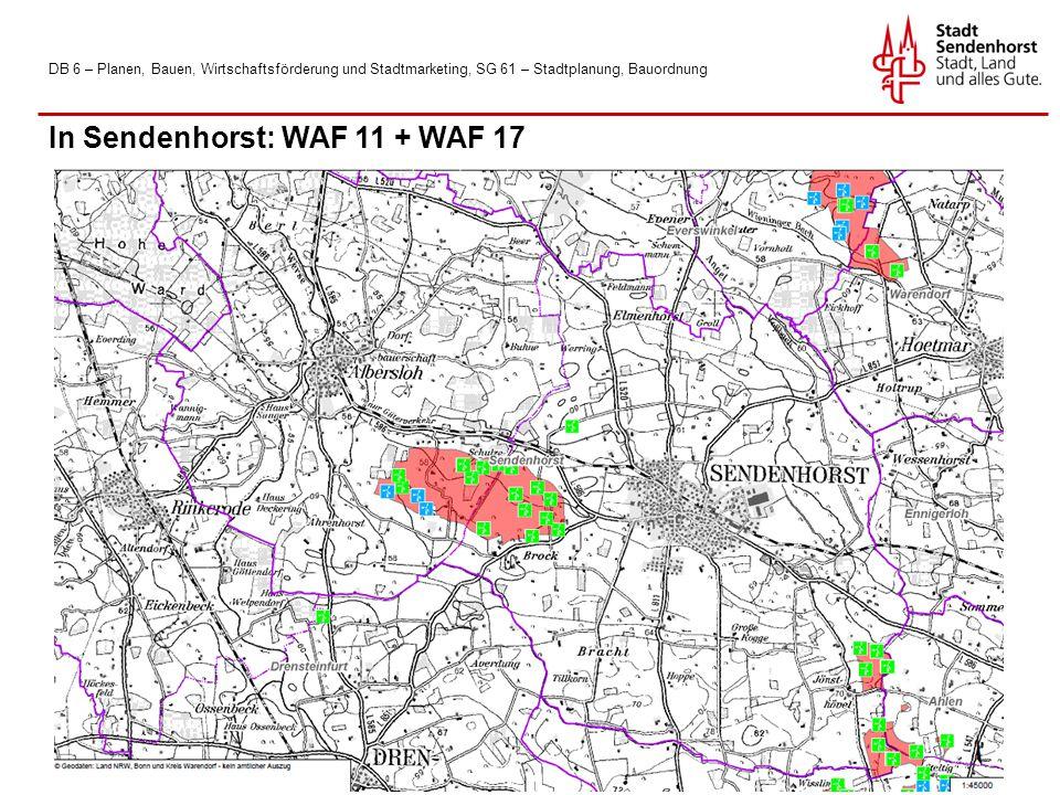 In Sendenhorst: WAF 11 + WAF 17