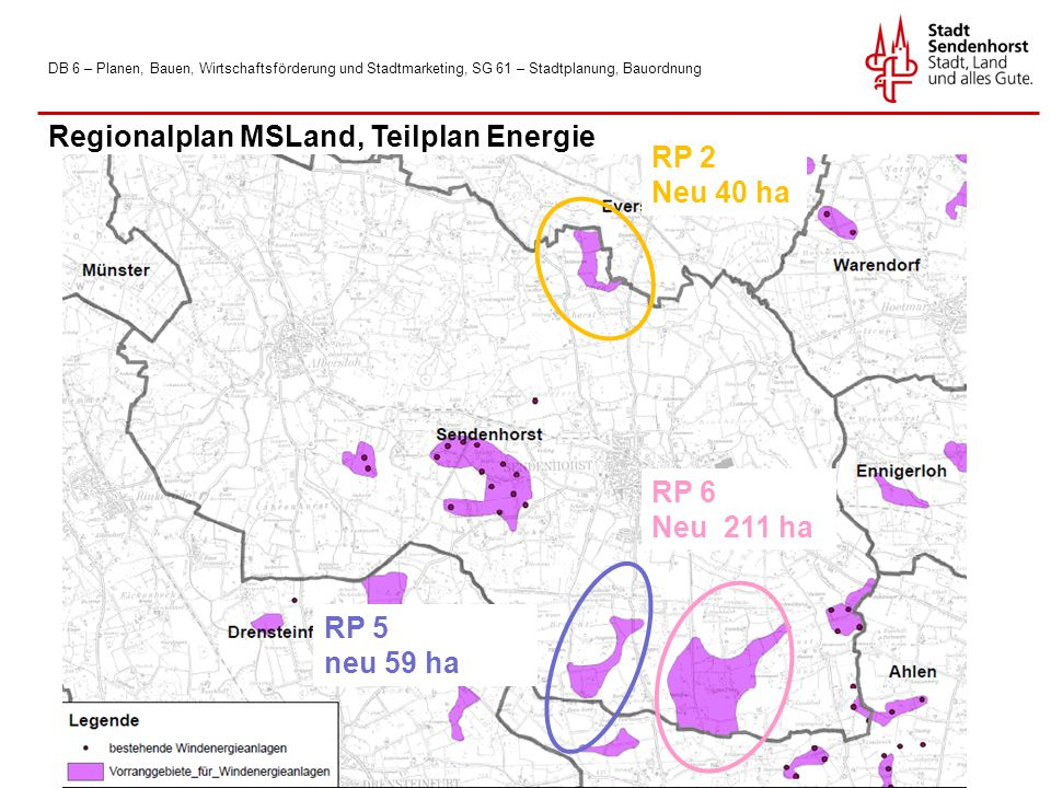 Regionalplan MSLand, Teilplan Energie RP 2 Neu 40 ha