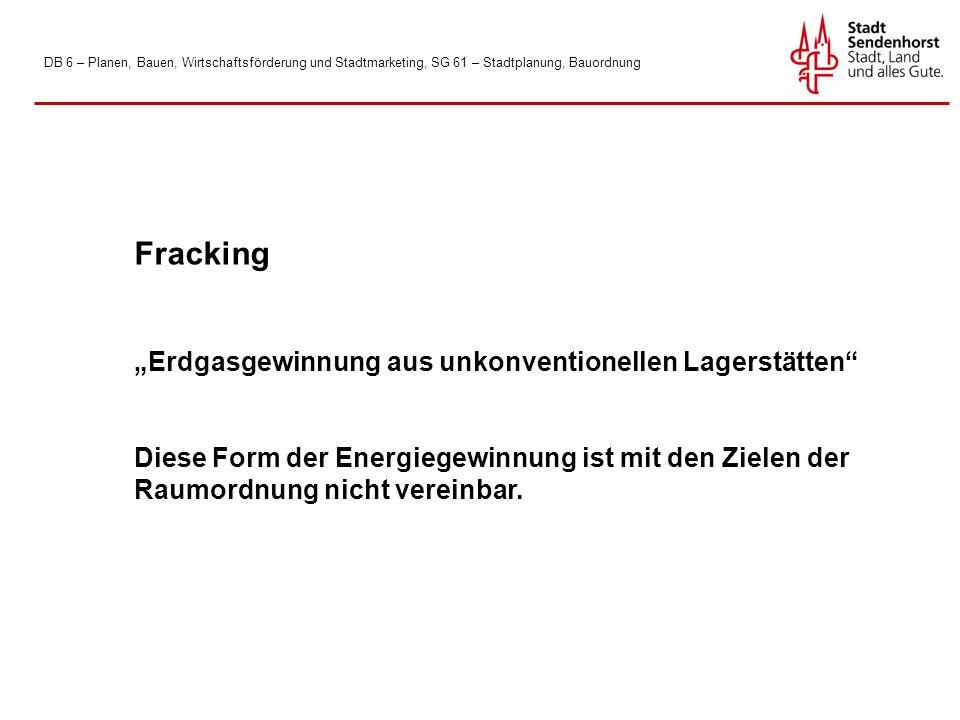 """Fracking """"Erdgasgewinnung aus unkonventionellen Lagerstätten"""