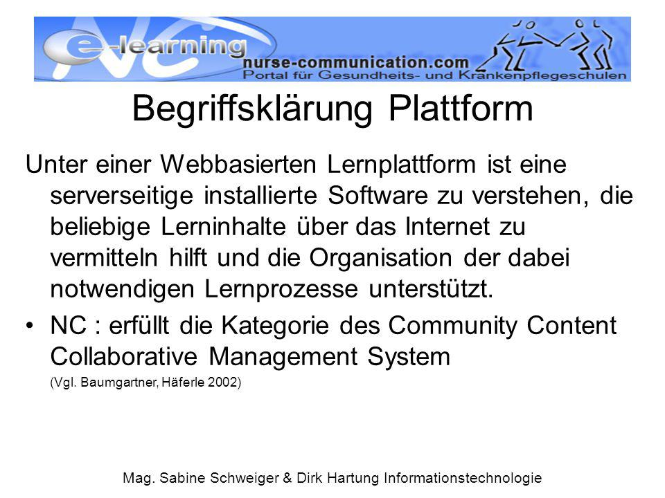 Begriffsklärung Plattform