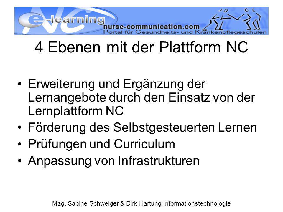 4 Ebenen mit der Plattform NC