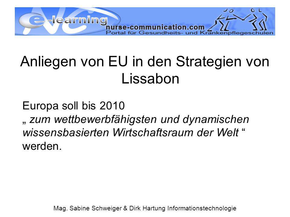 Anliegen von EU in den Strategien von Lissabon