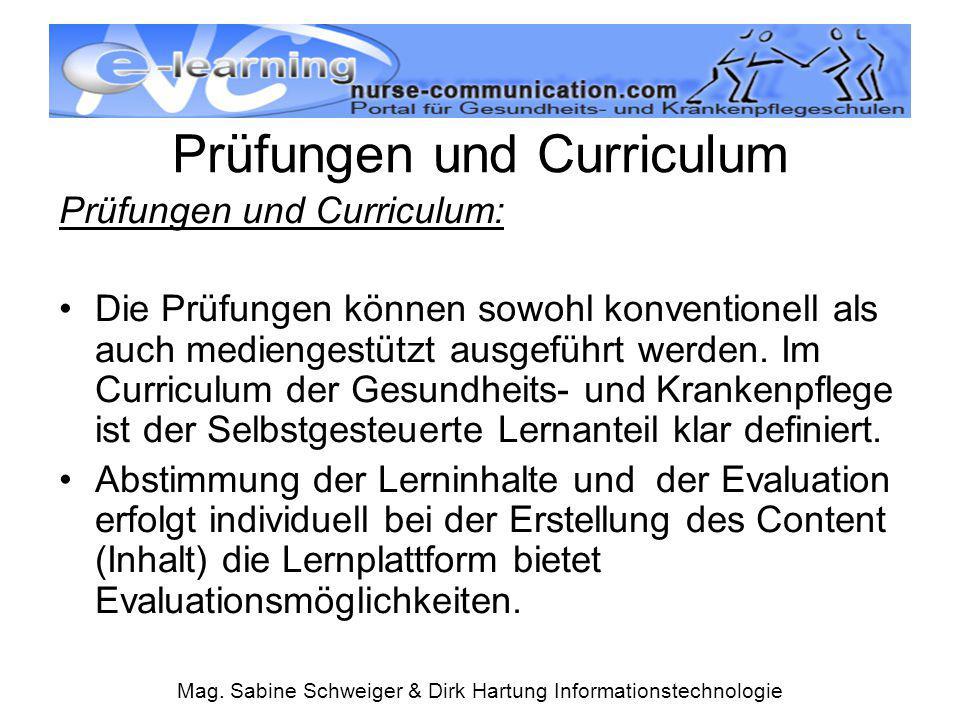 Prüfungen und Curriculum