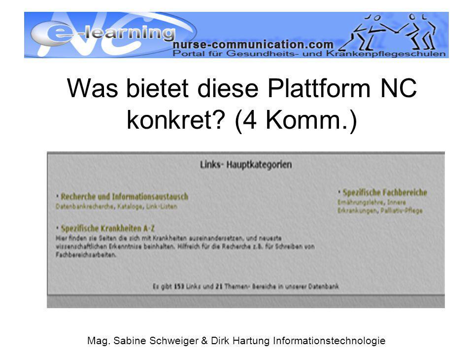 Was bietet diese Plattform NC konkret (4 Komm.)