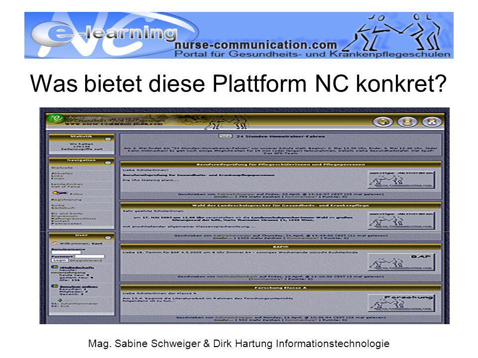 Was bietet diese Plattform NC konkret