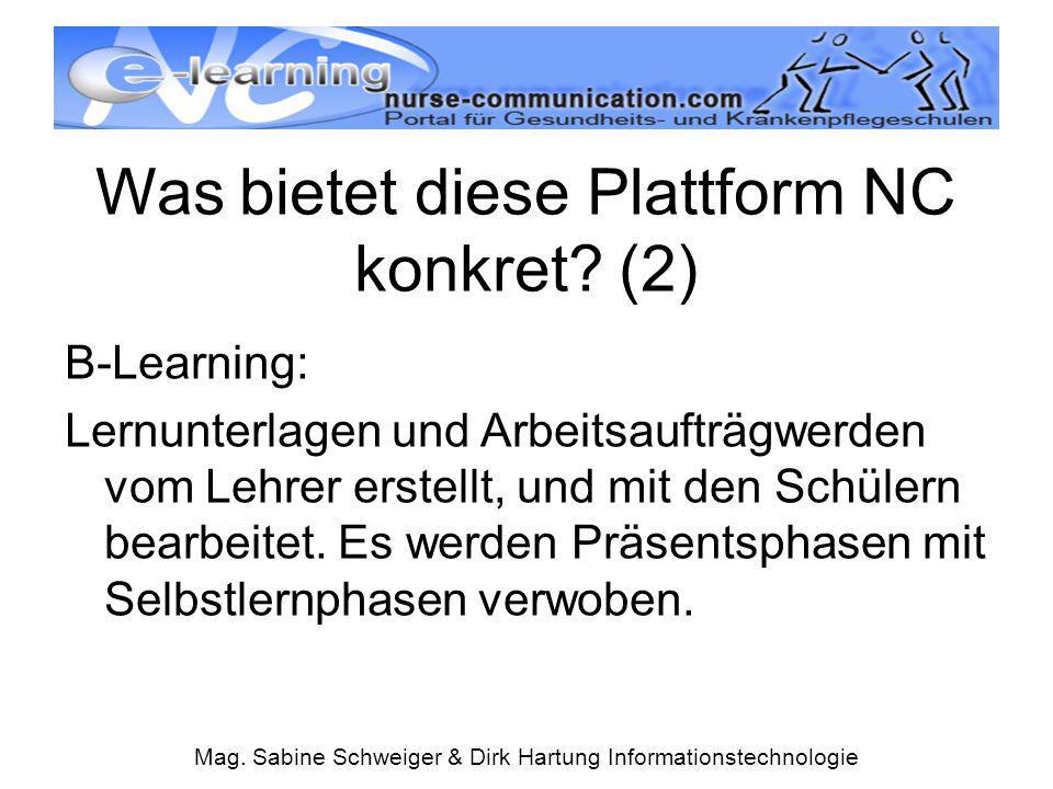Was bietet diese Plattform NC konkret (2)