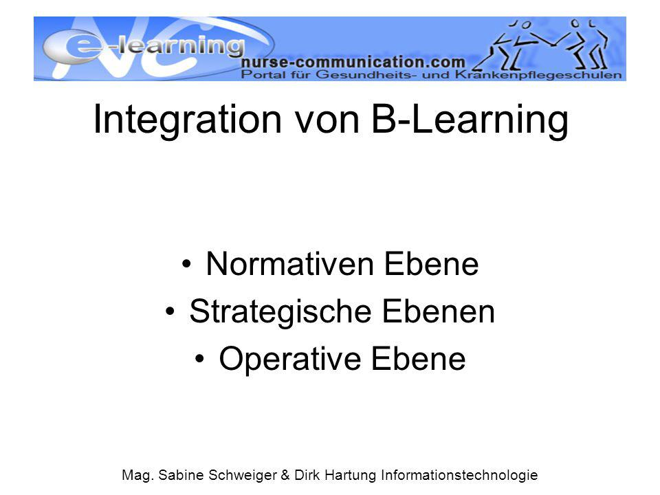 Integration von B-Learning