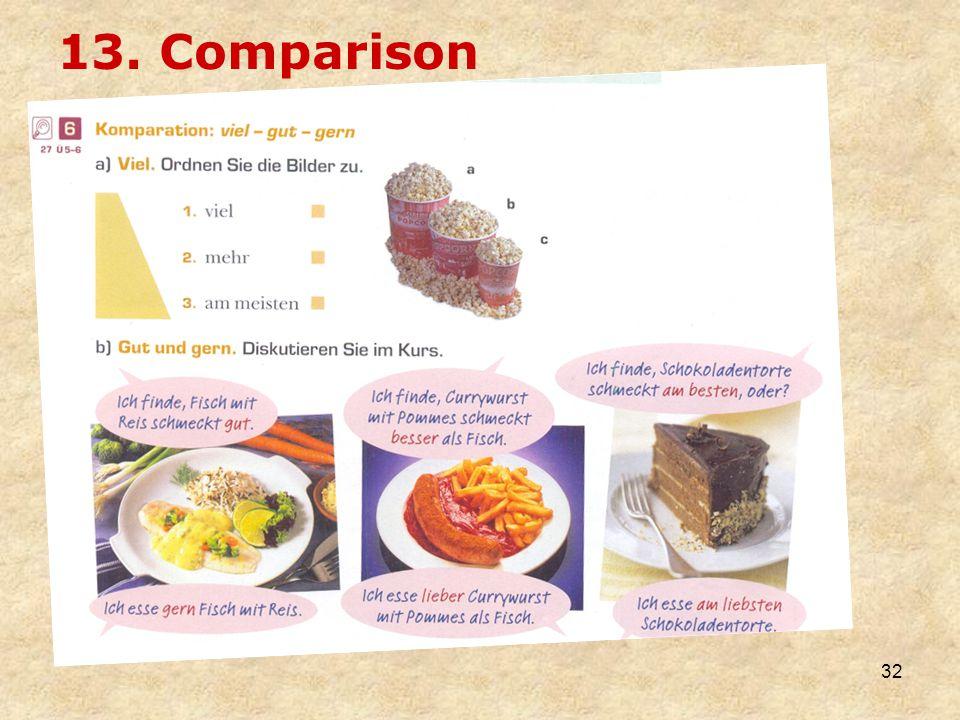 13. Comparison
