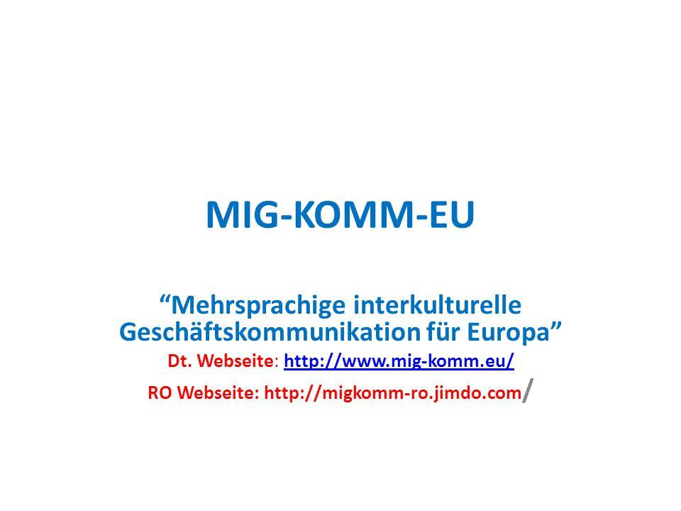 Mehrsprachige interkulturelle Geschäftskommunikation für Europa