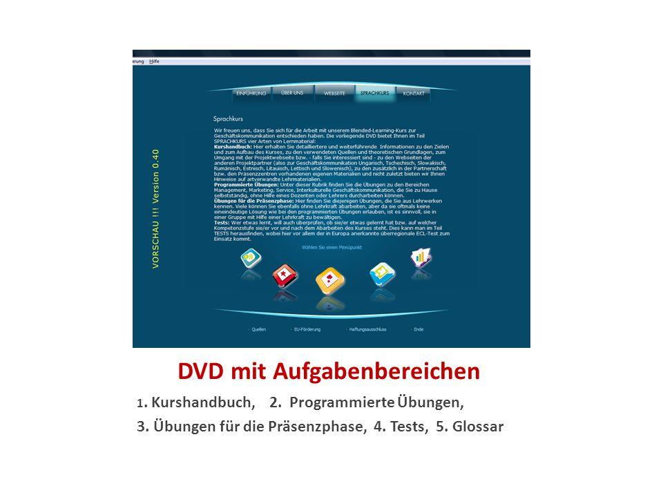 DVD mit Aufgabenbereichen