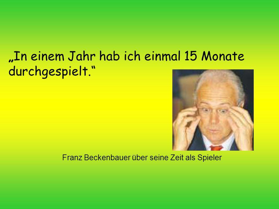 Franz Beckenbauer über seine Zeit als Spieler
