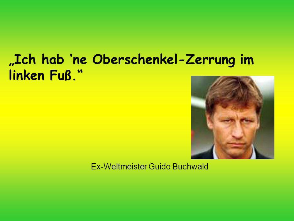 Ex-Weltmeister Guido Buchwald