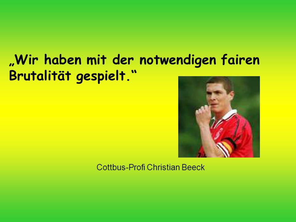 Cottbus-Profi Christian Beeck