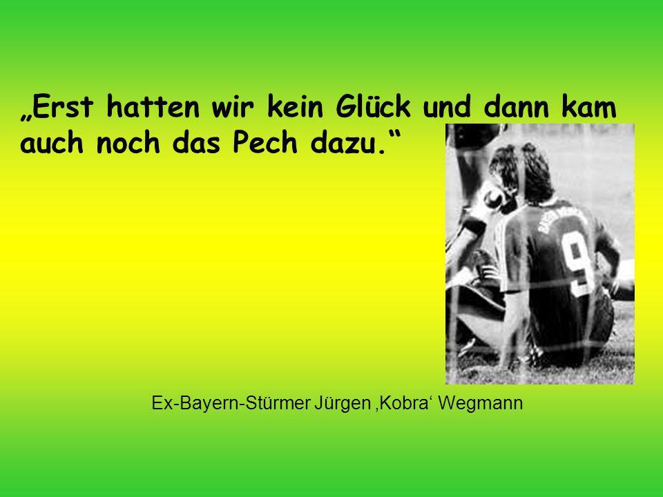 Ex-Bayern-Stürmer Jürgen 'Kobra' Wegmann