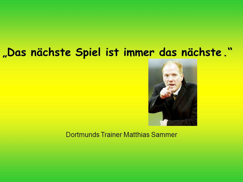 Dortmunds Trainer Matthias Sammer