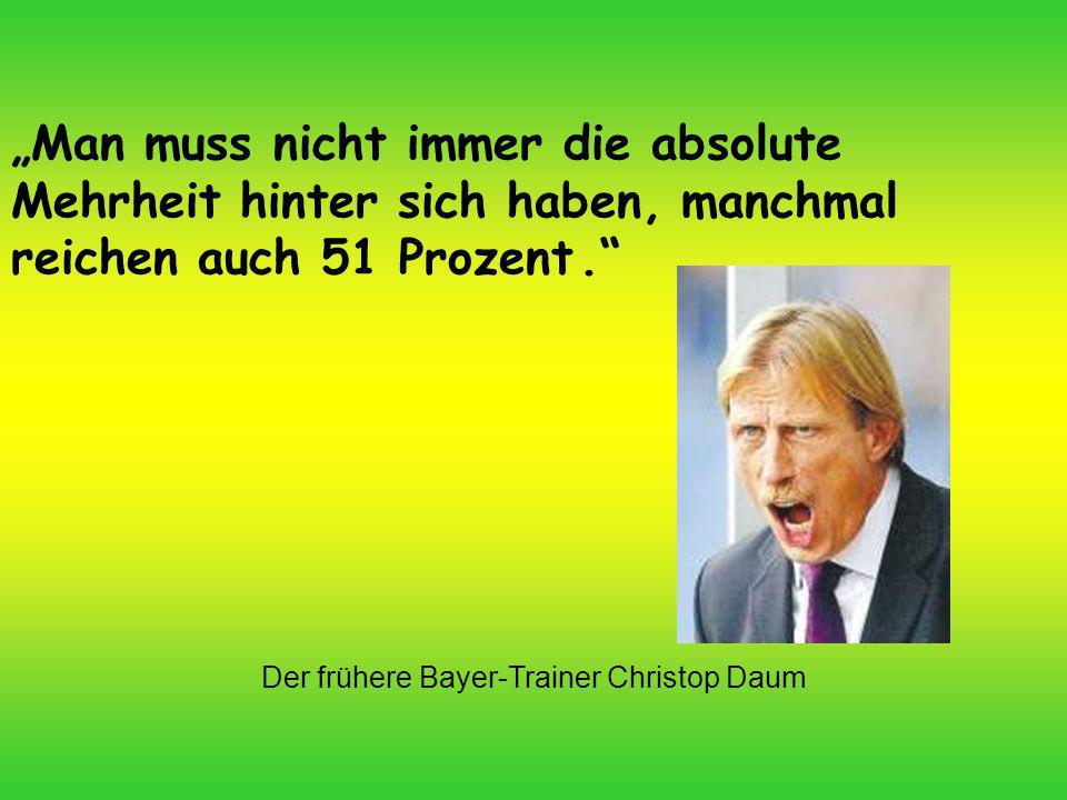 Der frühere Bayer-Trainer Christop Daum