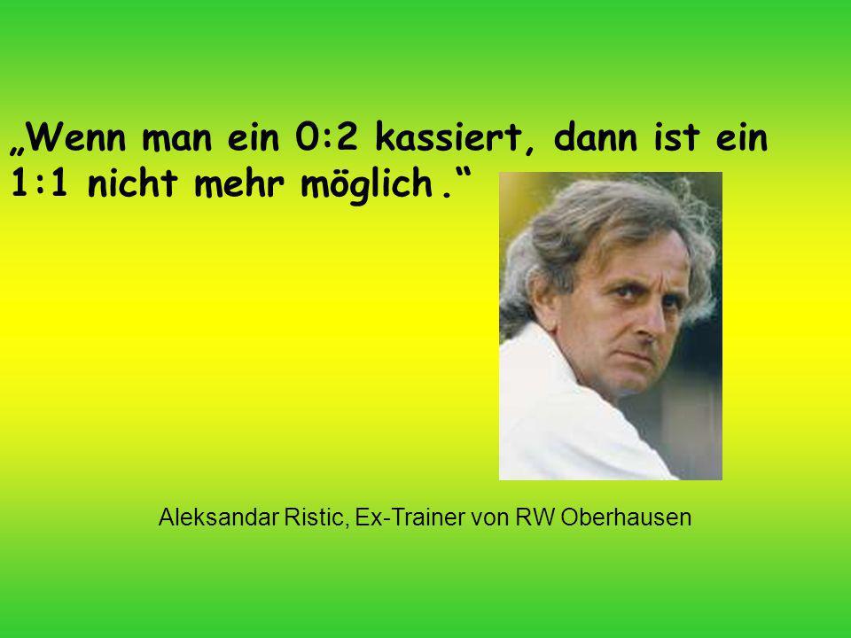 Aleksandar Ristic, Ex-Trainer von RW Oberhausen