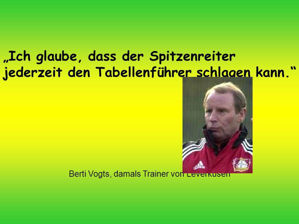 Berti Vogts, damals Trainer von Leverkusen