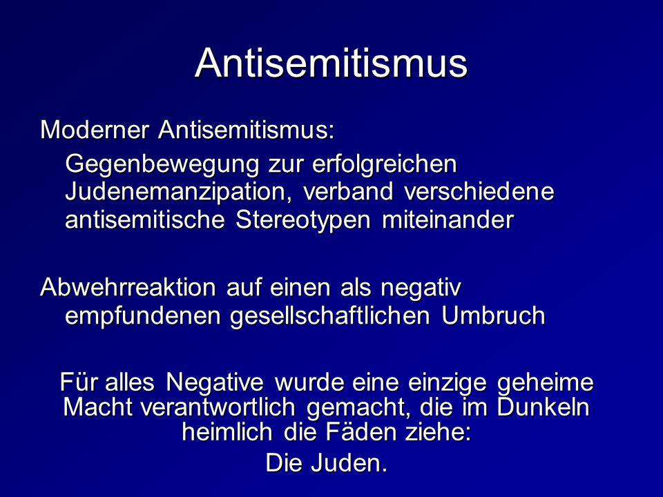 Antisemitismus Moderner Antisemitismus: