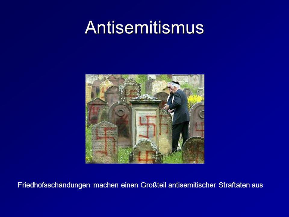 Antisemitismus Friedhofsschändungen machen einen Großteil antisemitischer Straftaten aus