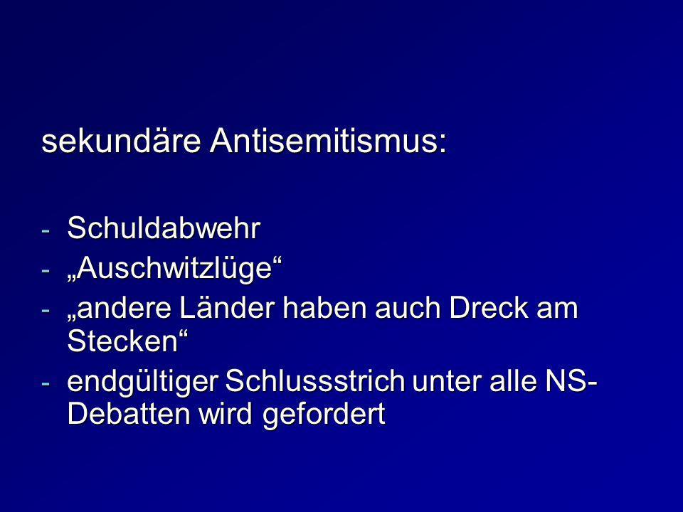 sekundäre Antisemitismus: