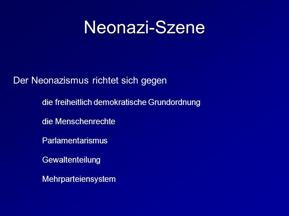 Neonazi-Szene Der Neonazismus richtet sich gegen