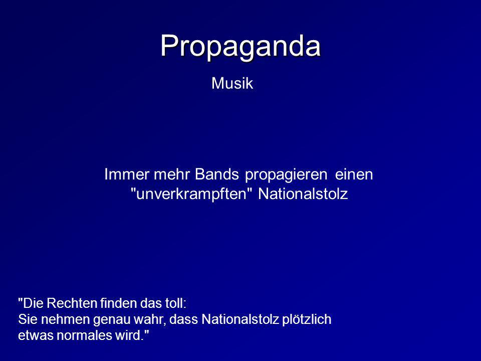 Immer mehr Bands propagieren einen unverkrampften Nationalstolz