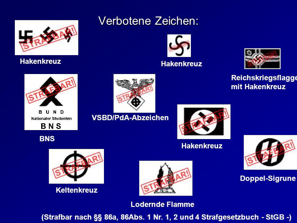 Verbotene Zeichen: Hakenkreuz Hakenkreuz