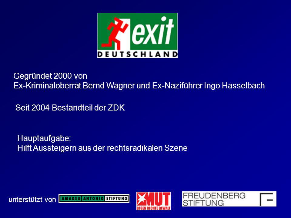 Ex-Kriminaloberrat Bernd Wagner und Ex-Naziführer Ingo Hasselbach