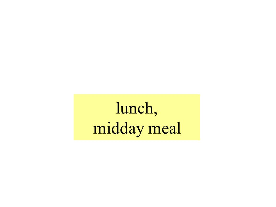 lunch, midday meal