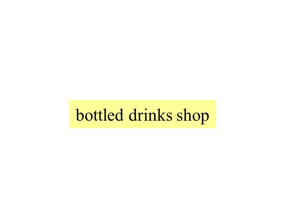 bottled drinks shop