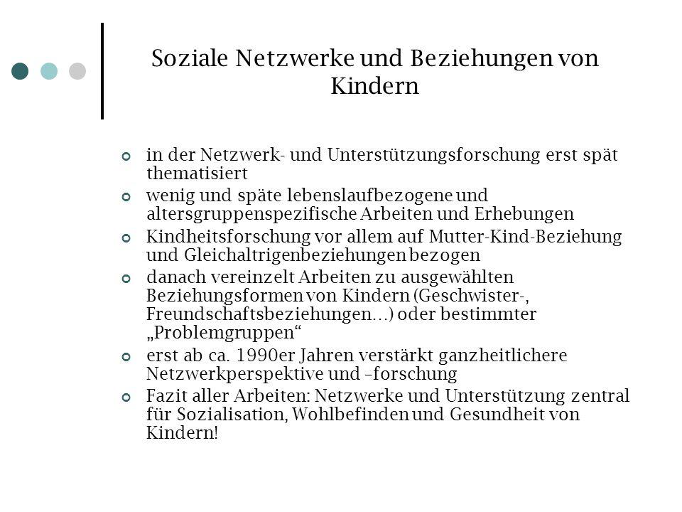 Soziale Netzwerke und Beziehungen von Kindern