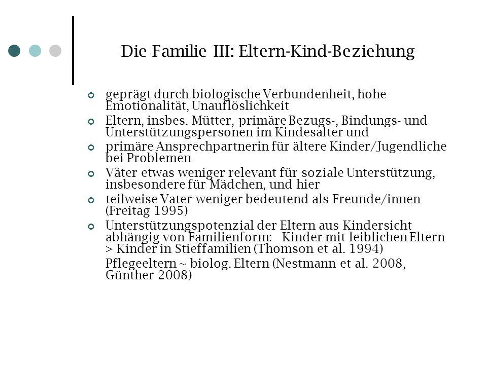 Die Familie III: Eltern-Kind-Beziehung