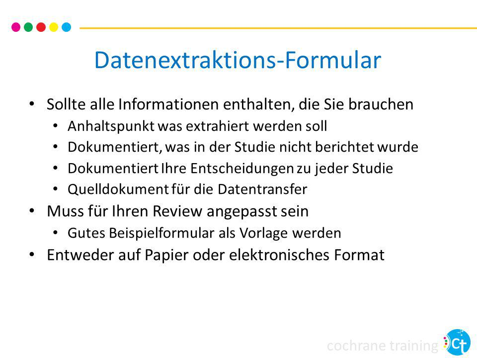 Datenextraktions-Formular