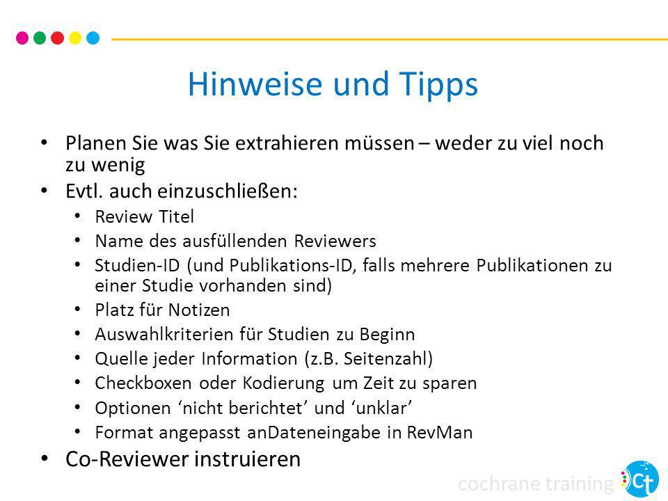 Hinweise und Tipps Co-Reviewer instruieren