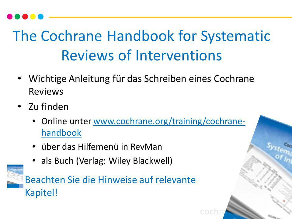 The Cochrane Handbook for Systematic Reviews of Interventions