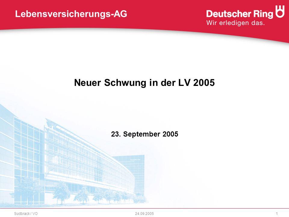 Neuer Schwung in der LV 2005 23. September 2005 Sudbrack / VO