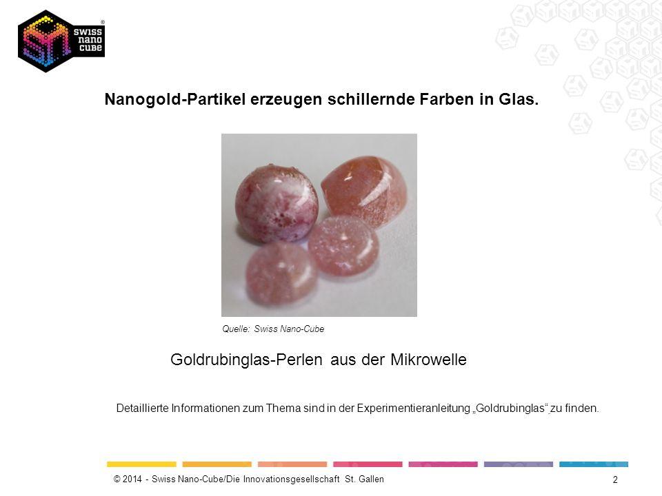Nanogold-Partikel erzeugen schillernde Farben in Glas.