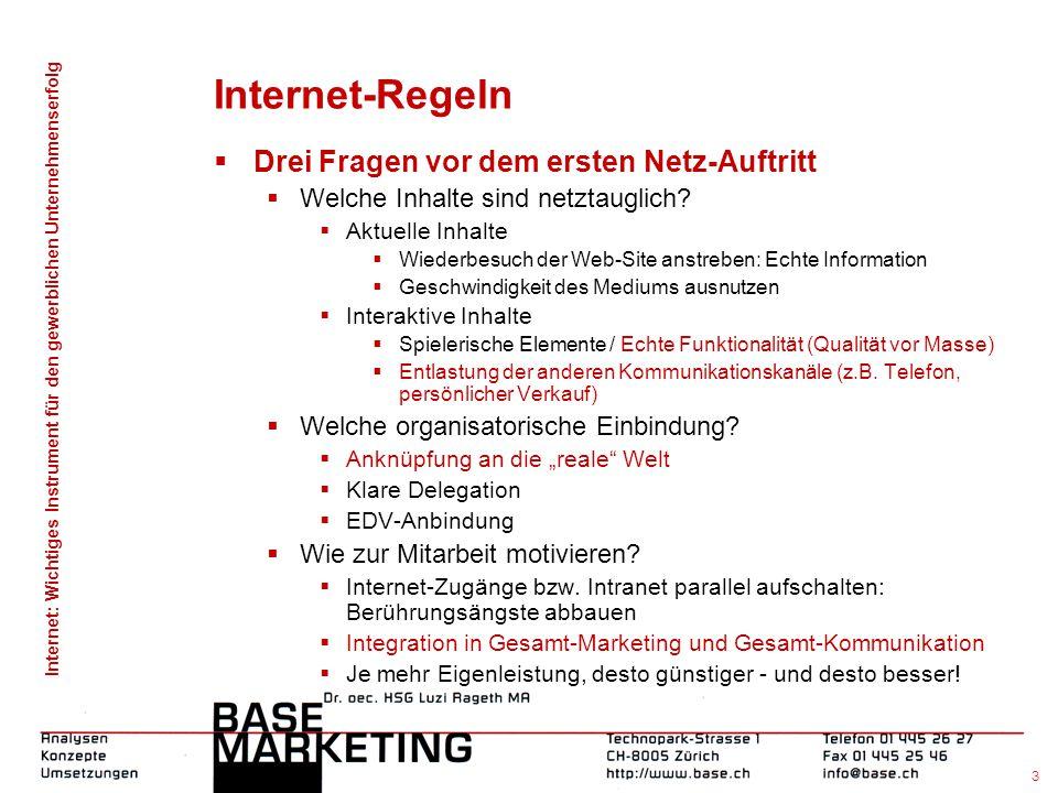 Internet-Regeln Drei Fragen vor dem ersten Netz-Auftritt