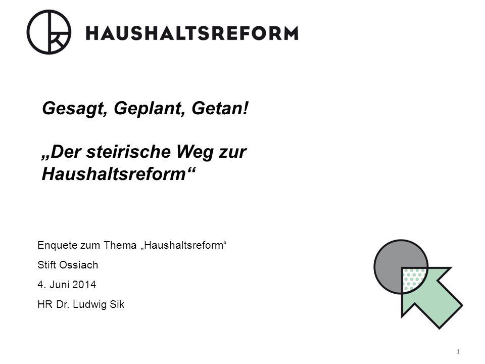 """Gesagt, Geplant, Getan! """"Der steirische Weg zur Haushaltsreform"""